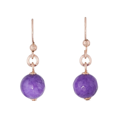 Picture of Forever Bold – Natural Stone Earrings with Rose Gold, Malaysian Jade Beads and Sterling Silver Hooks
